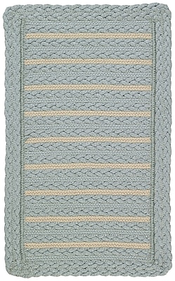 Capel Boathouse Blue Indoor/Outdoor Area Rug; Cross Sewn 3' x 5'
