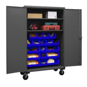 Durham Manufacturing 80'' H x 48'' W x 24'' D Lockable Mobile Cabinet; Blue