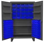 Durham Manufacturing 78'' H x 48'' W x 24'' D Lockable Cabinet; Blue