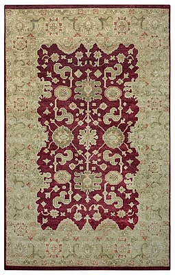 Rizzy Home Aquarius Collection Hand-Spun New Zealand Wool 2' x 3' Burgundy (AQUAQ865914300203)