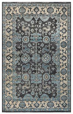 Rizzy Home Aquarius Collection Hand-Spun New Zealand Wool 5'x8' Blue (AQUAQ884237160508)