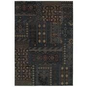 "Rizzy Home Bellevue Collection 100% Heat-Set Polypropylene 3'3"" x 5'3"" Blue (BLVBV395400093353)"