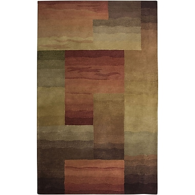Rizzy Home Colours Collection New Zealand Wool Blend 5'x8' Red/Burgundy (COLCL138300330508)