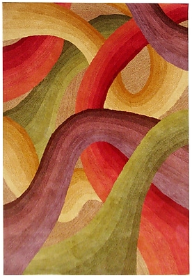 Rizzy Home Colours Collection New Zealand Wool Blend 5'x8' Multi-Colored (COLCL166800700508)