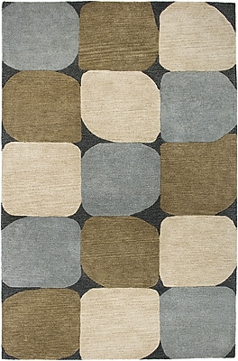 Rizzy Home Colours Collection New Zealand Wool Blend 5'x8' Blue/Navy (COLCL167500820508)