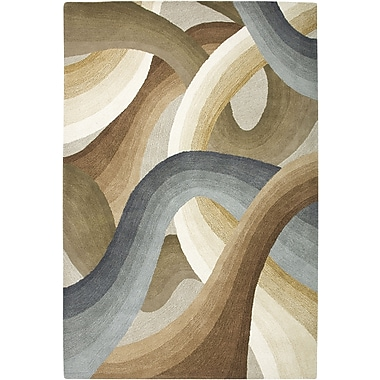 Rizzy Home Colours Collection New Zealand Wool Blend 3' x 5' Tan/Ivory/Brown (COLCL167900820305)