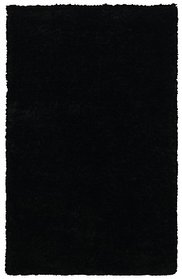 Rizzy Home Commons Collection 100% Polyester 5'x8' Black (CMOCO841900060508)