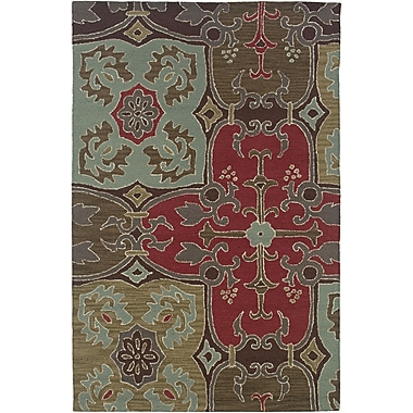 Rizzy Home Country Collection New Zealand Wool Blend 8'x10' Multi-Colored (COUCT090900040810)