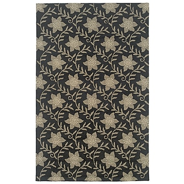 Rizzy Home Country Collection New Zealand Wool Blend 3' x 5' Black (COUCT091200060305)