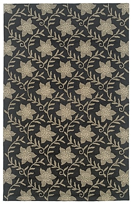 Rizzy Home Country Collection New Zealand Wool Blend 5'x8' Black (COUCT091200060508)