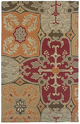 Rizzy Home Country Collection New Zealand Wool Blend 3' x 5' Multi-Colored (COUCT101500540305)