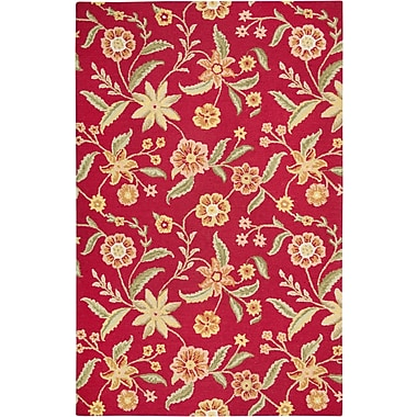 Rizzy Home Country Collection New Zealand Wool Blend 8'x10' Red (COUCT158500700810)