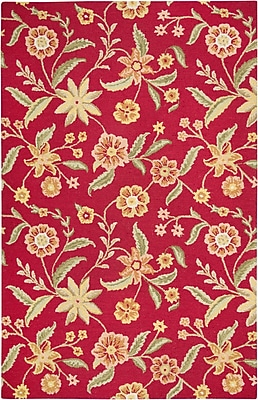 Rizzy Home Country Collection New Zealand Wool Blend 3' x 5' Red (COUCT158500700305)