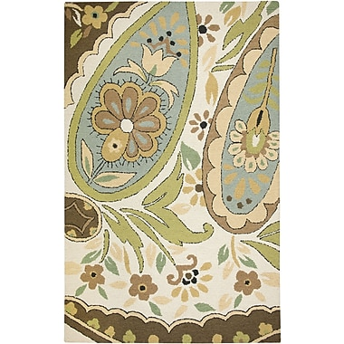 Rizzy Home Country Collection New Zealand Wool Blend 3' x 5' Multi-Colored (COUCT163100040305)