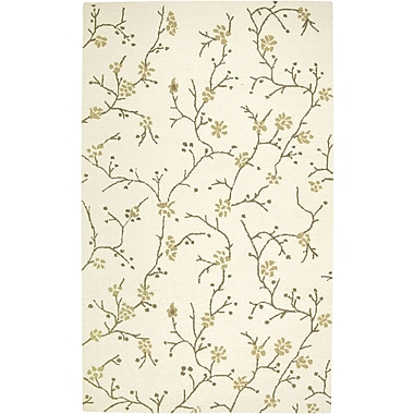 Rizzy Home Country Collection New Zealand Wool Blend 2' x 3' Ivory (COUCT163400040203)