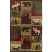 Rizzy Home Country Collection New Zealand Wool Blend 8'x10' Multi-Colored (COUCT206200120810)