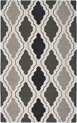 Rizzy Home Country Collection New Zealand Wool Blend 8'x10' Black/Gray (COUCT259400330810)