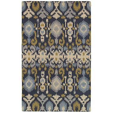 Rizzy Home Country Collection New Zealand Wool Blend 3' x 5' Navy (COUCT822500570305)