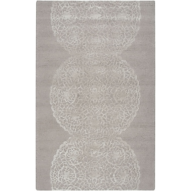 Rizzy Home Dimensions Collection New Zealand Wool Blend 5'x8' Taupe (DIMDI245544370508)
