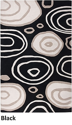 Rizzy Home Fusion Collection New Zealand Wool Blend 9'x12' Black (FUSFN007100060912)
