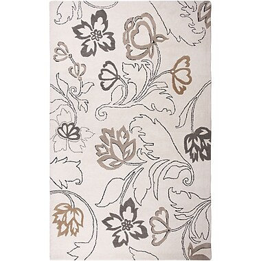 Rizzy Home Fusion Collection New Zealand Wool Blend 5'x8' Off White (FUSFN057300370508)