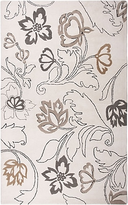 Rizzy Home Fusion Collection New Zealand Wool Blend 8'x10' Off White (FUSFN057300370810)