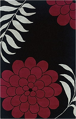 Rizzy Home Fusion Collection New Zealand Wool Blend 2' x 3' Black (FUSFN103500060203)