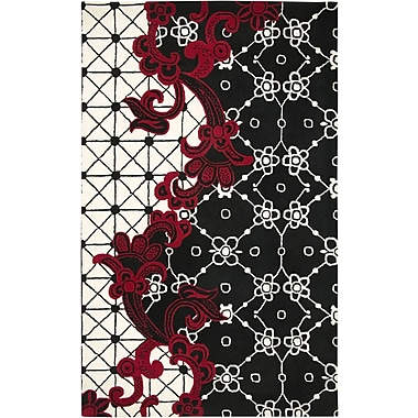 Rizzy Home Fusion Collection New Zealand Wool Blend 8'x10' Black (FUSFN144700060810)