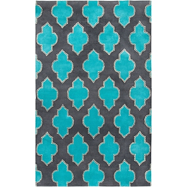 Rizzy Home Fusion Collection New Zealand Wool Blend 3' x 5' Blue/Teal (FUSFN220900330305)