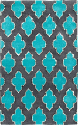 Rizzy Home Fusion Collection New Zealand Wool Blend 5'x8' Blue/Teal (FUSFN220900330508)