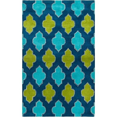 Rizzy Home Fusion Collection New Zealand Wool Blend 9'x12' Blue/Teal/Green (FUSFN224700090912)
