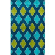 Rizzy Home Fusion Collection New Zealand Wool Blend 8'x10' Blue/Teal/Green (FUSFN224700090810)