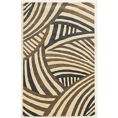 Rizzy Home Fusion Collection New Zealand Wool Blend 2' x 3' Brown/Gray (FUSFN858200370203)