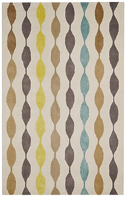 Rizzy Home Gillespie Avenue Collection Blended Wool With Viscose Accents 3' x 5' Brown/Gray/Yellow/Blue (GSAGV862337330305)
