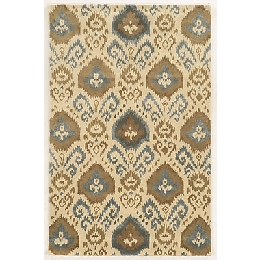 Rizzy Home Gillespie Avenue Collection Premium Blended Wool With Viscose Accents 5'x8' Ivory (GSAGV862800370508)