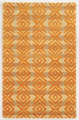 Rizzy Home Gillespie Avenue Collection Premium Blended Wool With Viscose Accents 5'x8' Gold (GSAGV863404280508)