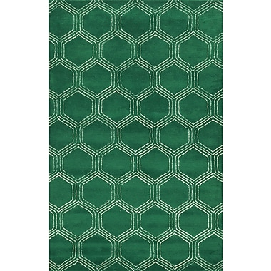 Rizzy Home Gillespie Avenue Collection Premium Blended Wool With Viscose Accents 9'x12' Green (GSAGV873300300912)