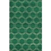 Rizzy Home Gillespie Avenue Collection Premium Blended Wool With Viscose Accents 5'x8' Green (GSAGV873300300508)