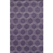 Rizzy Home Gillespie Avenue Collection Premium Blended Wool With Viscose Accents 8'x10' Purple  (GSAGV8734PU000810)