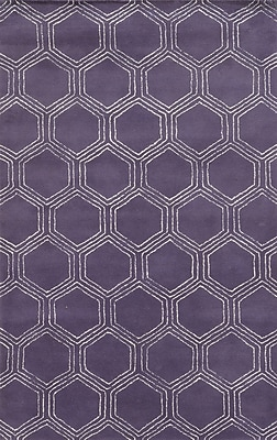 Rizzy Home Gillespie Avenue Collection Premium Blended Wool With Viscose Accents 2' x 3' Purple (GSAGV8734PU000203)