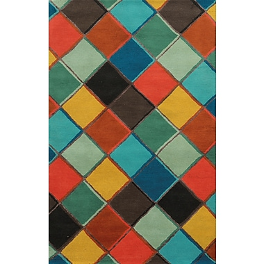 Rizzy Home Gillespie Avenue Collection Premium Blended Wool With Viscose Accents 2' x 3' Multi-Colored (GSAGV883570280203)