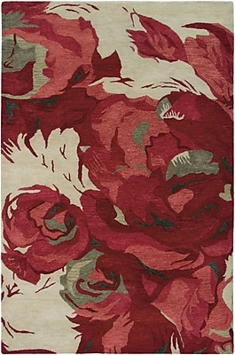 Rizzy Home Highland Collection 100% Wool 8'x10' Red (HIGHD260100040810)