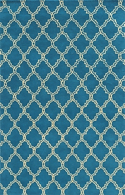 Rizzy Home Julian Pointe Collection 100% Premium Blended Wool 8'x10' Blue (JLPJP874200090810)