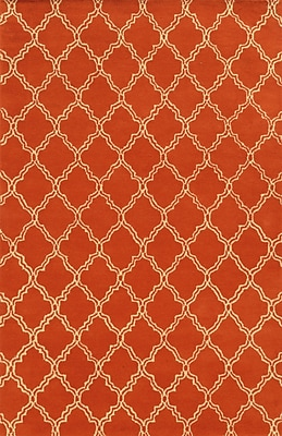 Rizzy Home Julian Pointe Collection 100% Premium Blended Wool 8'x10' Orange (JLPJP874300600810)