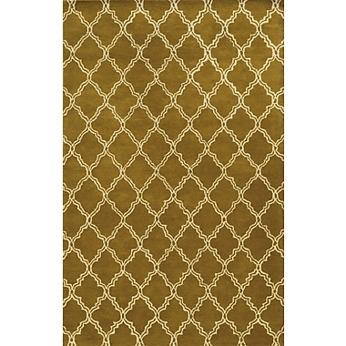 Rizzy Home Julian Pointe Collection 100% Premium Blended Wool 9'x12' Olive (JLPJP874400280912)