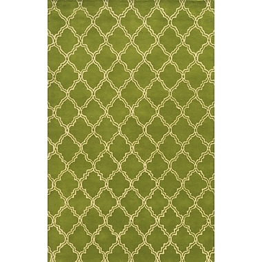 Rizzy Home Julian Pointe Collection 100% Premium Blended Wool 2' x 3' Lime Green (JLPJP874500300203)