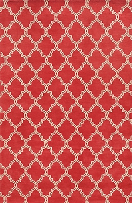 Rizzy Home Julian Pointe Collection 100% Premium Blended Wool 5'x8' Pink (JLPJP874600700508)