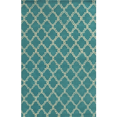 Rizzy Home Julian Pointe Collection 100% Premium Blended Wool 3' x 5' Aqua/Blue (JLPJP874700800305)