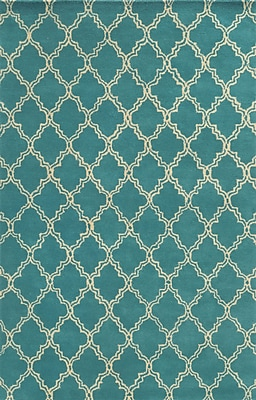 Rizzy Home Julian Pointe Collection 100% Premium Blended Wool 2' x 3' Aqua/Blue (JLPJP874700800203)