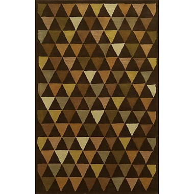 Rizzy Home Julian Pointe Collection 100% Premium Blended Wool 8'x10' Brown (JLPJP876000120810)